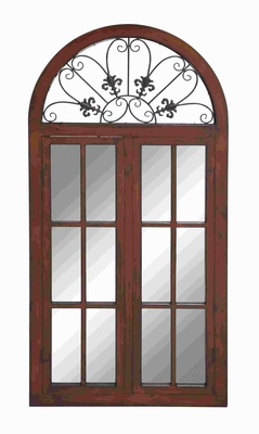 Wood Metal Window Mirror Designed in Classic-Style Window Brand Woodland