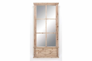 Wood Mirror 78 Inch Height, 36 Inch Width Brand Woodland