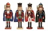 "Wood Nutcracker 4 Assorted 15""H Holiday Decor"