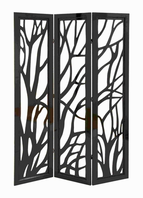 Wood Panel Screen in Slick Brown Finish & Lightweight Brand Woodland