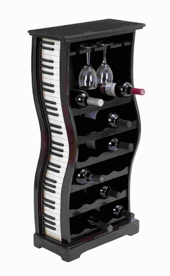 Wood Piano Wine Holder And Horizontal Racks with Artistic Finish Brand Woodland