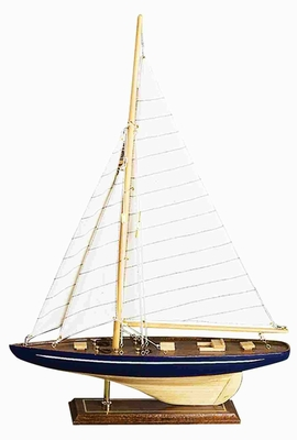 Wood Sailboat Crafted with Intricate Detailing in Glossy Finish Brand Woodland