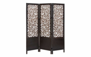Wood Screen 3 Panel In Two Section With See Through Cut Design Brand Woodland