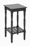 Wood Square Side Table in Dark Chocolate Color with Smooth Finish Brand Woodland