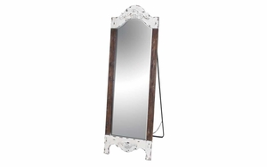 Wood Standing Mirror For Flawless Image Look With A Stand Support Brand Woodland