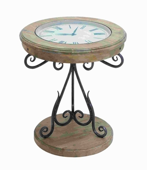 Table Clock With Innovative Pattern And Elegant Curves - 53189 by Benzara
