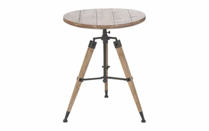 Wood Table Foldable Wood Metal Table with Tripod Legs Brand Woodland