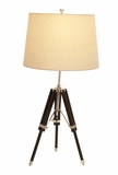 Wood Tripod Lamp With Adjustable Height For Anywhere Use Brand Woodland