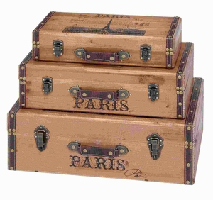 Wood Trunk with Light Gray Background and Authenticity (Set of 3) Brand Woodland