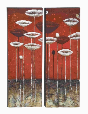 Wood Wall Art for Modern and Conventional Decor (Set of 2) Brand Woodland