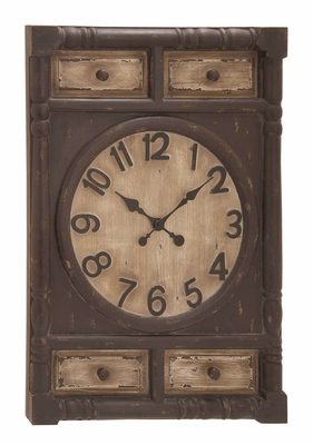 Wood Wall Clock In Cabinet Sculpture To Track The Time In Style Brand Woodland