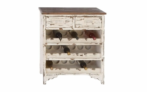 Wood Wine Cabinet Drawer With Eighteen Bottles Capacity Brand Woodland