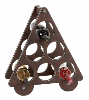 Wood Wine Rack, Wine Bottle Holder Six-in-One 20 Inch Ht, 18 Inch Width Brand Woodland