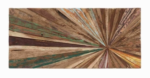 Wooden Abstract Wall Decor without Hassles of Stapling Brand Woodland