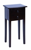 Wooden Accent Side Phone Table in Dark Ebony Finish Brand Woodland