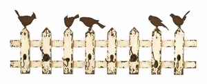 """Wooden and Metal Multipurpose Wall Hook 48"""" Wide Brand Woodland"""