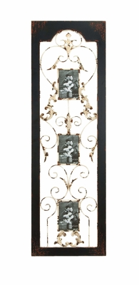 Wooden and Metal Wall Photo Frame Sclupture Brand Woodland
