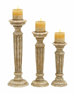 Wooden Candle Holder with Sturdy Wooden Frame (Set of 3) Brand Woodland