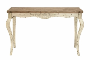 Traditional Styled Wood and Metal Console Table - 51698 by Benzara