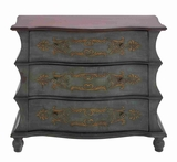 Wooden Dresser with Three Drawers and Beautiful Color Scheme Brand Woodland