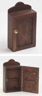 Wooden Key Box - Carved Wooden Key Almirah Box With Door Brand IOTC