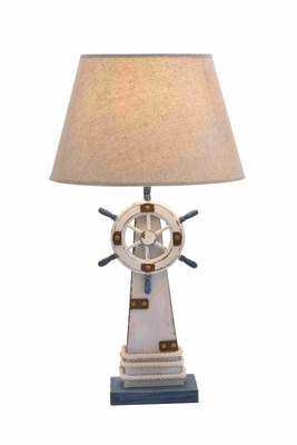Wooden Lighthouse Table Lamp with Switch and a Solid Base Brand Woodland