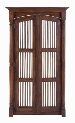 Wooden Mahogany Wall Panel with Skillfully Carved Fine Details Brand Woodland