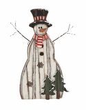 """Wooden Metal Snowman Wearing Hat & Colorful Muffler 22""""W, 31""""H by Woodland Import"""