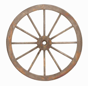 Wooden Metal Wagon Wheel with Long Lasting Construction Brand Woodland