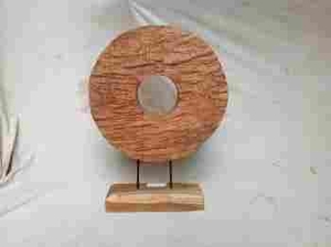 Wooden Round Ring Stand Decor with Solidity and Durability Brand Woodland