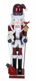 "Wooden Santa Nutcracker 30""H Holiday Decor"