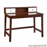 Wooden Stylish Brody Desk with White Drawers by Southern Enterprises