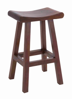 "Wooden Trembesi 31"" Bar Stool for Outdoor Setting in Brown Brand Woodland"