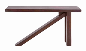 Wooden Trembesi Compact Console with a Broad Rectangular Top Brand Woodland