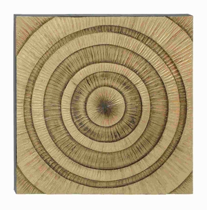 Wooden Wall Art with Sturdy Construction in Natural Wood Finish Brand Woodland