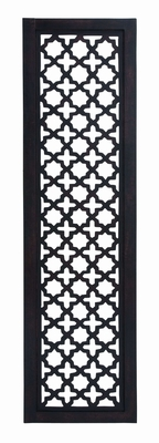 Black And White Wooden Wall Panel With Fine Attention To Details - 34096 by Benzara