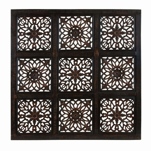 Classy Wooden Wall Panel With Abstract Design And Rustic Finish - 34098 by Benzara