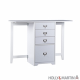 Wooden White Beautiful Paige Fold-Out Organizer and Craft Desk by Southern Enterprises