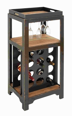 Wooden Wine Holder with Sturdy and Long Lasting Construction Brand Woodland