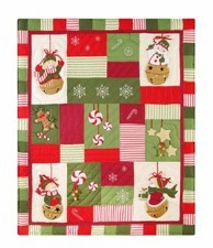 Woven Snow Sleigh Themed Throw Blanket For Your Warm Bed Brand C&F