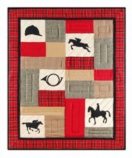 Woven Throw Blanket Of Equestrian Horses To Cover Your Warm Bed Brand C&F