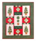 Woven Throw Blanket Of Festive Topiaries To Cover Your Warm Bed Brand C&F