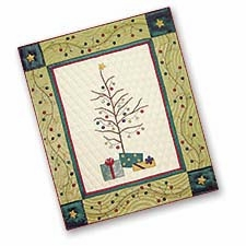 Woven Throw Blanket With A Festive Tree To Cover Your Warm Bed Brand C&F