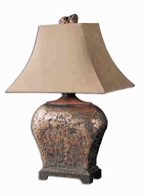 Xander Table Lamp Crafted with Atlantis Bronze Brand Uttermost