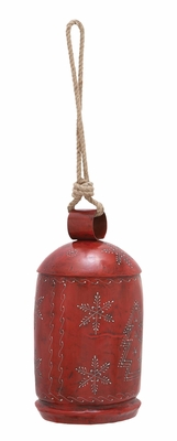 "Xmas Bell Antiqued Red 30"" Holiday Decor"