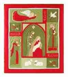 Yuletide Nativity Holiday Throw, 50 Inch X 60 Inch Brand C&F