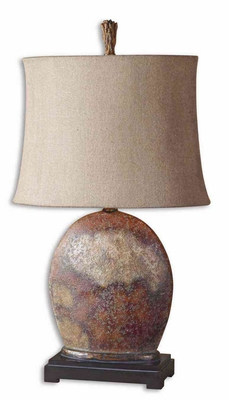 Yunu Distressed Table Lamp with Aged Ivory Detailing Brand Uttermost