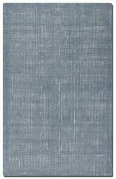 Zell Blue Slate 8' Hand Loomed Wool Rug with Off White Undertones Brand Uttermost