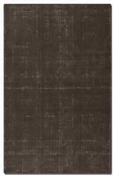Zell Charcoal 5' Hand Loomed Wool Rug with Off White Undertones Brand Uttermost