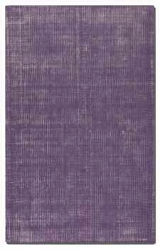 Zell Purple 5' Hand Loomed Wool Rug with Off White Undertones Brand Uttermost